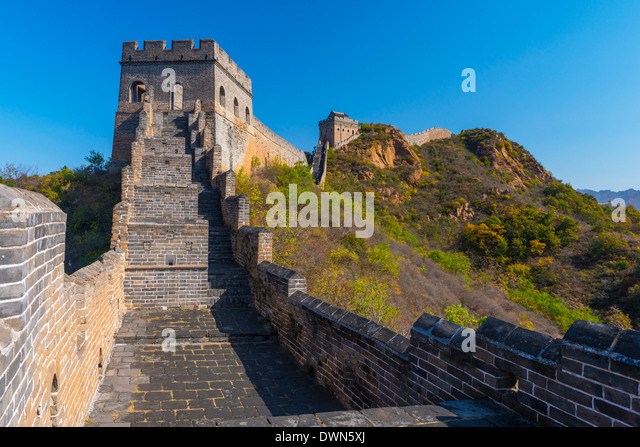 Great Wall of China, UNESCO Site, dating from the Ming Dynasty, Jinshanling, Luanping County, Hebei Province, China - Stock-Bilder