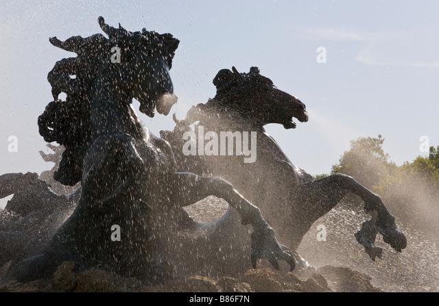 Fountain, Monument des Girondins, Bordeaux, Gironde, France - Stock Image