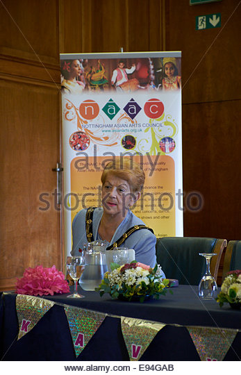Nottingham, UK, 19 October 2014   Kavya Rang at Nottingham Festival of Words - Book Launch and Poetry Reading in - Stock Image