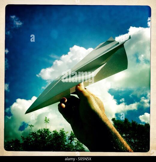 Paper aeroplane - Stock Image