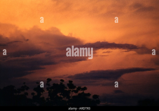 Storm Clouds sunset - Stock Image