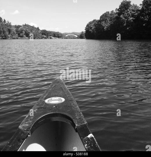 Canoeing on the river. - Stock Image