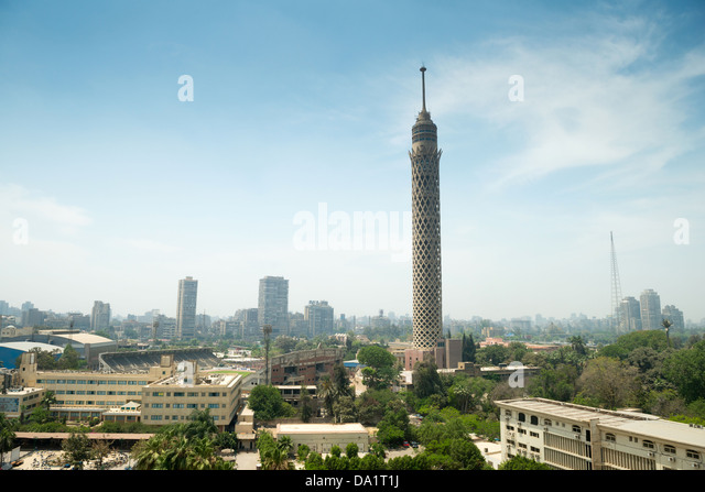 City view of Cairo tower, Egypt - Stock Image