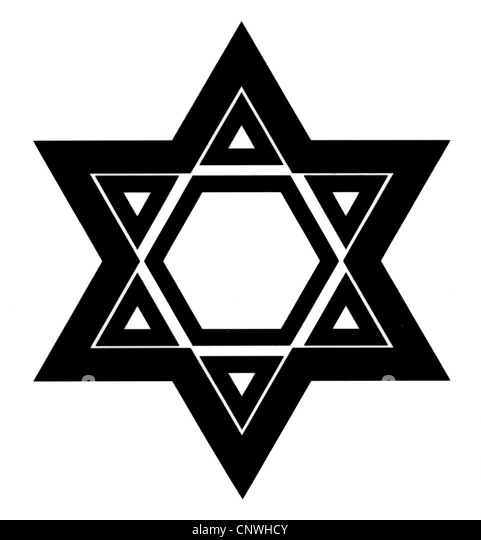 symbols, Star of David, computer graphics, Jews, Judaism, Jewry, symbol, Shield of David, Magen David, - Stock Image