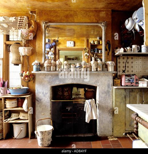 Kitchen Fireplace Stock Photos & Kitchen Fireplace Stock