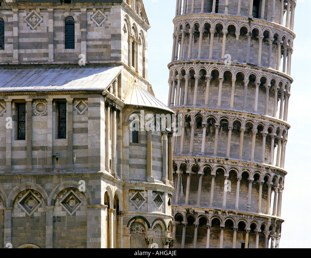 IT  - TUSCANY:  Leaning Tower of Pisa - Stock Image
