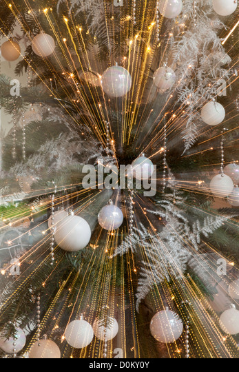 ABSTRACT CHRISTMAS DECORATIONS - Stock Image