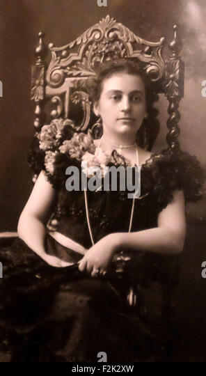 Mary Scott Lord Harrison as a young lady - 2nd Wife of President Benjamin Harrison - Stock Image