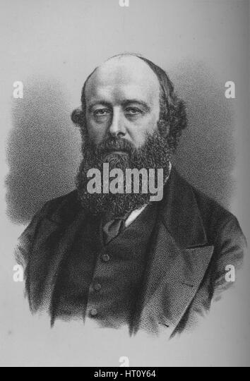 Robert Arthur Talbot Gascoyne-Cecil, 3rd Marquis of Salisbury, British politician, c1880s (1883). Artist: Unknown. - Stock Image