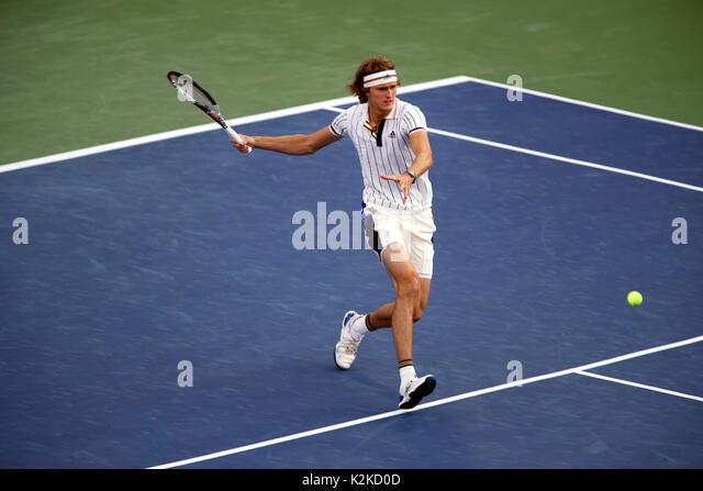 New York, United States. 30th Aug, 2017. US Open Tennis: New York, 30 August, 2017 - Germany's Alexander Zverev - Stock Image