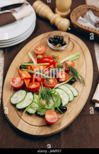 Appetizers tray on table - Stock-Bilder