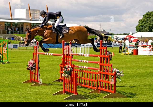 Lincolnshire Show 2008 Show Jumping Event - Stock Image