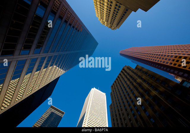 Toronto, Ontario, Canada; Office towers on King and Bay Street - Stock Image