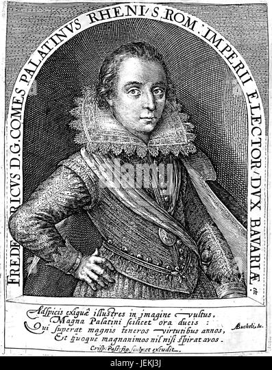 FREDERICK V of the Palatinate  engraved by Crispin de Passe about 1613 - Stock-Bilder