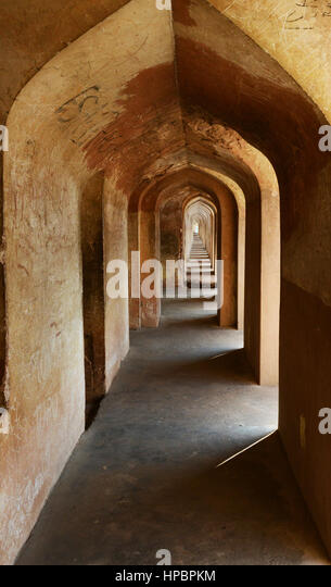 The labyyrint in the Bara Imambara complex in Lucknow. - Stock Image