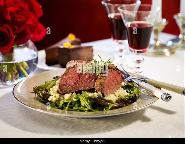 nice dinner - Stock Image