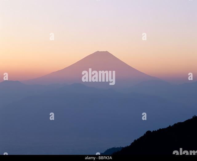 Mt.Fuji And Morning Glow - Stock Image