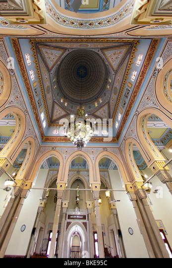 Jumeirah Mosque , indoor, ceiling,  Dubai, United Arab Emirates - Stock Image