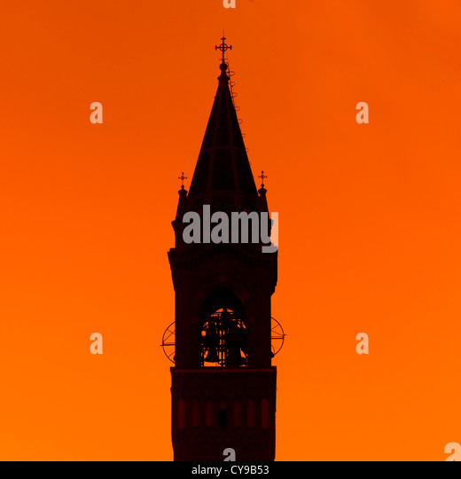 St Joseph's Cathedral In The Sunset, Asmara, Eritrea  - Stock Image