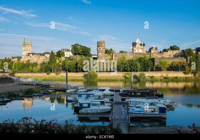 Angers Loire River France Stock Photos and Images