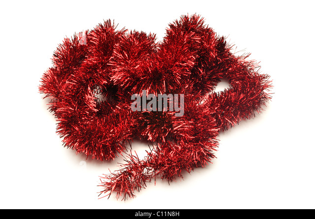 Tinsel garland stock photos images