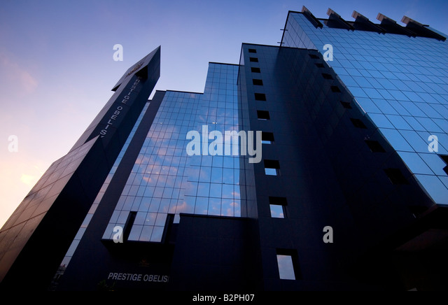 Modern Buildings, MG Road Area, Shanthala Nagar, Bengaluru (Bangalore), South Karnataka, India - Stock-Bilder