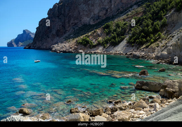 Cala Bóquer. Mallorca Island. Spain - Stock Image