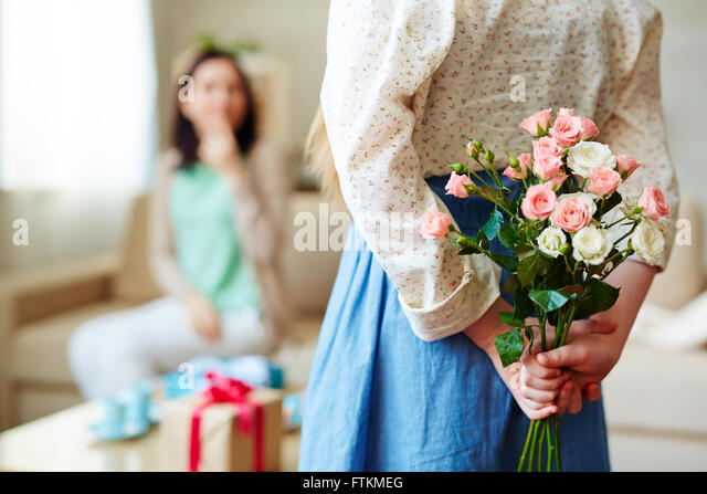 Hiding roses - Stock Image
