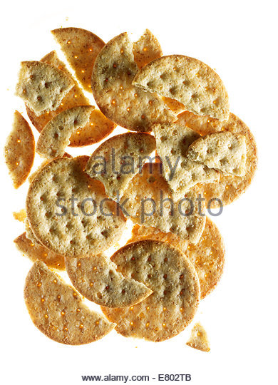 Cheese crackers isolated on white background - Stock Image