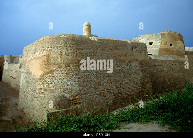 Bahrain Fort Delmon Civilisation 2500bc - Stock Image