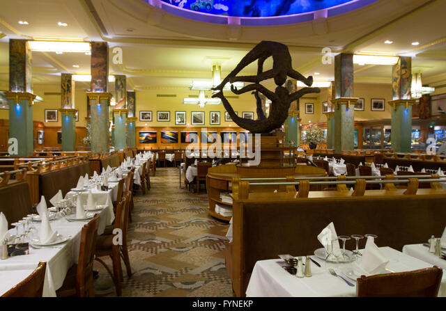 The historic La Coupole restaurant Paris France - Stock Image
