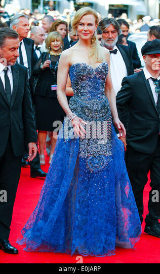 NICOLE KIDMAN GRACE OF MONACO PREMIERE. 67TH CANNES FILM FESTIVAL CANNES  FRANCE 14 May 2014 - Stock Image