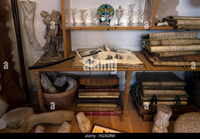 Rembrandt's Art Cabinet, Rembrandt House Museum,  Rembrandthuis,  Amsterdam, Netherlands. - Stock Image