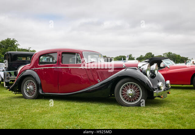 Vintage car show - Jaguar Mark IV - Stock Image