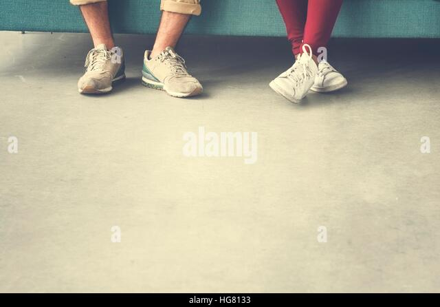 Group of People Legs Copy Space Concept - Stock Image