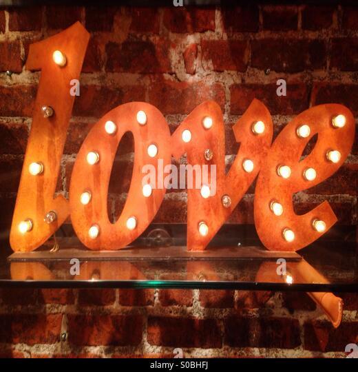 Love Light Sign - Stock Image