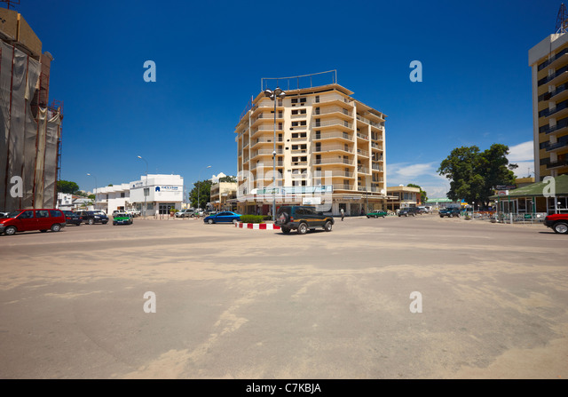 City Center Roundabout (Rond Point City Centre), Brazzaville, Republic of Congo, Africa - Stock-Bilder