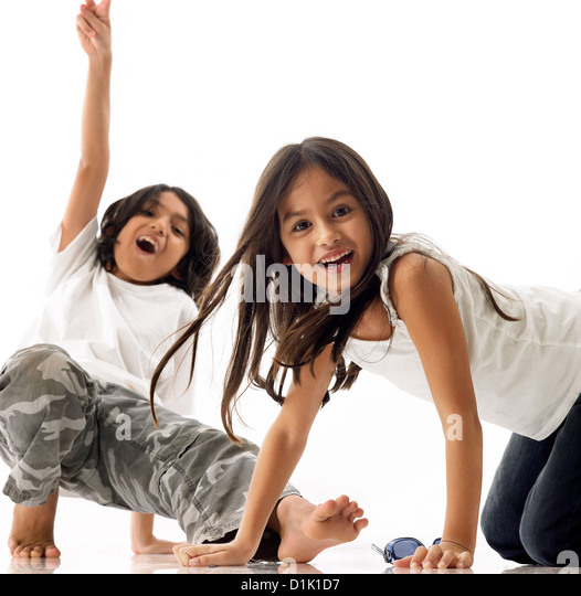 Brother and sister - Stock Image