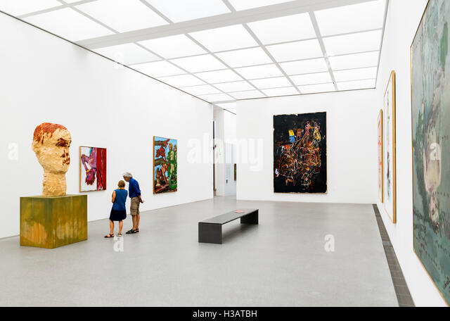 Interior of the Pinakothek der Moderne (Museum of Modern Art), Munich, Bavaria, Germany - Stock Image