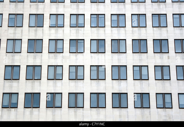 Office block detail, London, England, UK - Stock Image