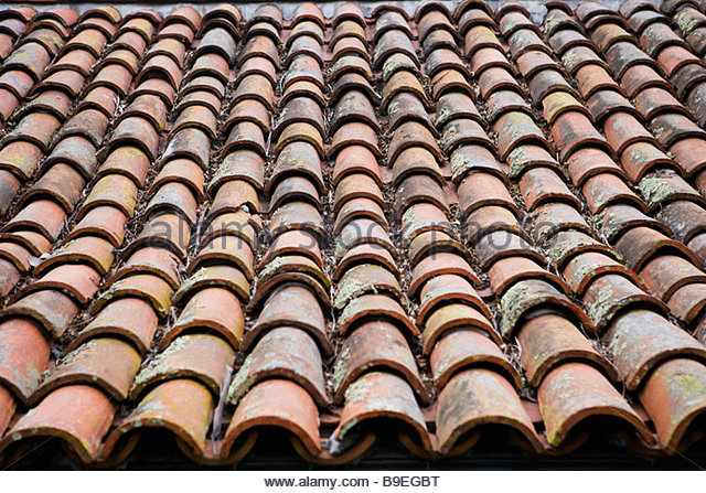 Barrel Tile Roof Stock Photos Barrel Tile Roof Stock