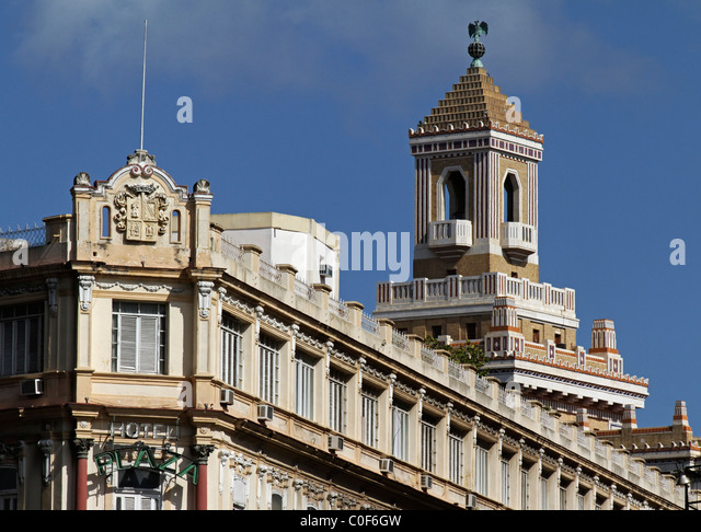 Barcadi Tower, Havanna Vieja, Cuba - Stock Image
