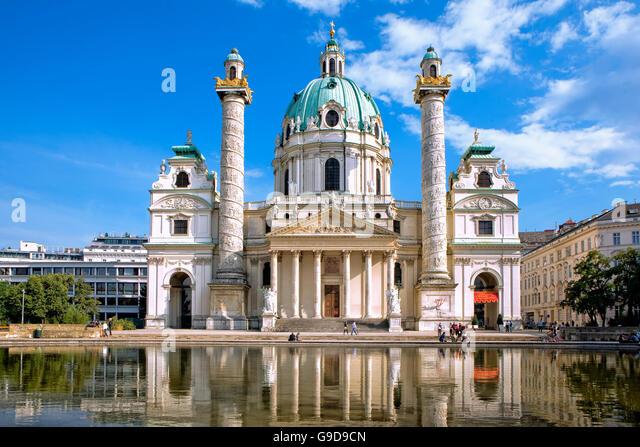 The Karlskirche in Vienna - Stock Image