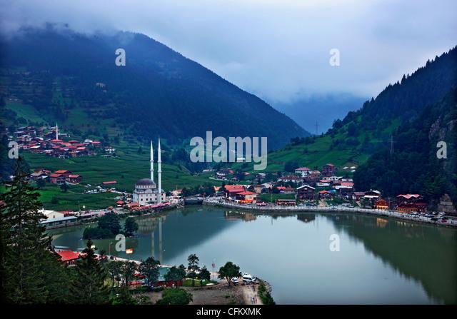 Uzun Lake ('Uzungol') , alpine scenery in Trabzon province, Black Sea region, Turkey. - Stock-Bilder