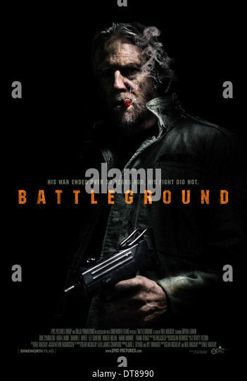 HUGH LAMBE POSTER BATTLEGROUND (2012) - Stock Image