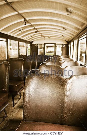 Antique Bus Seats : Vintage seats stock photos images