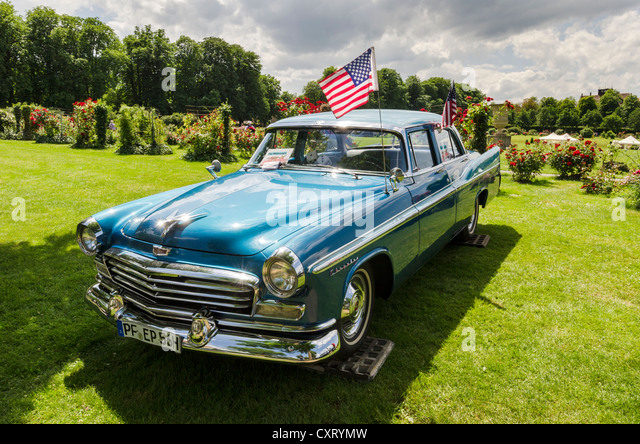 U.S.-American '56 Chrysler Windsor, festival of classic cars 'Retro Classics meets Barock', Schloss - Stock Image