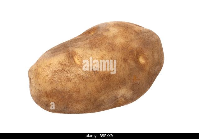 Potato cutout on white background - Stock Image