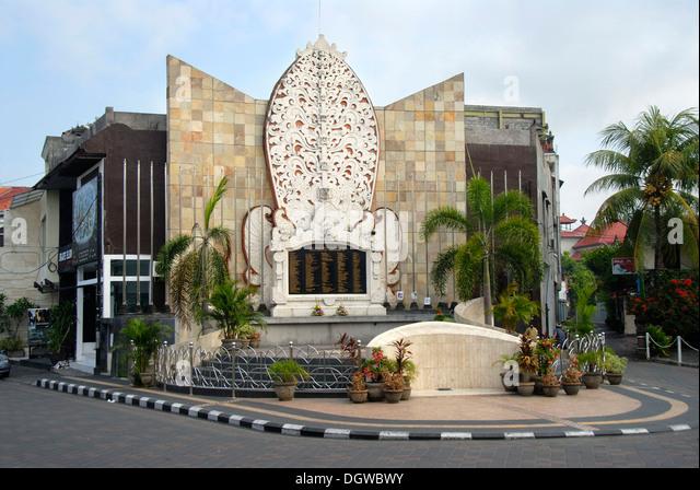 Bali Bomb Memorial for the victims of the terrorist attacks in 2002, Kuta, Bali, Indonesia, Southeast Asia, Asia - Stock Image
