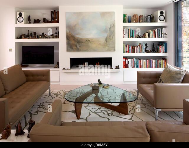 Living area on ground floor. Notting Hill House, London, United Kingdom. Architect: Michaelis Boyd Associates Ltd, - Stock-Bilder